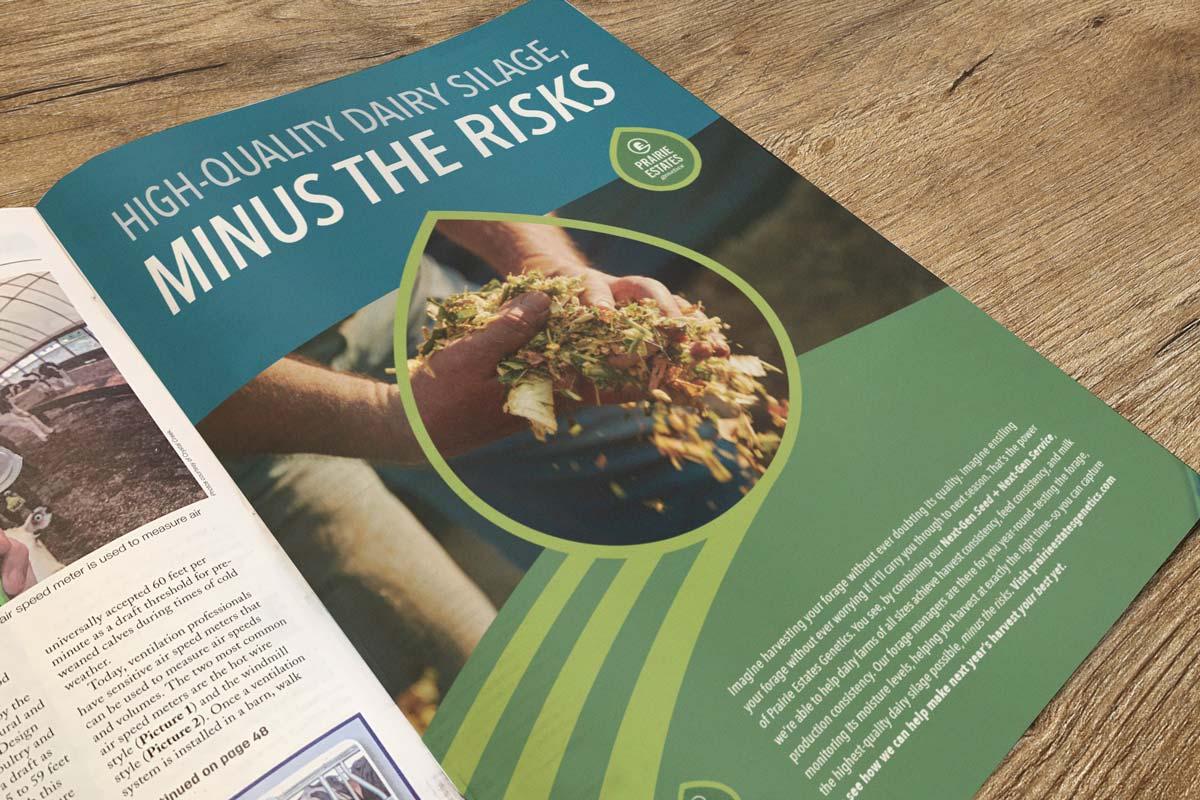 Prairie Estates Genetics Print Advertisement 2