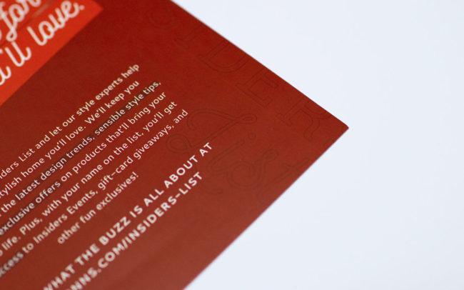 Insiders List Print Design Detail