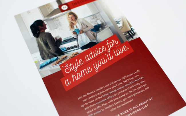 Insiders List Store Collateral Design