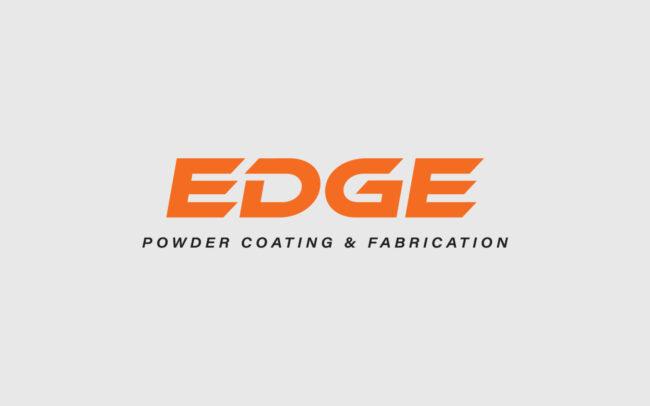 EDGE Powder Coating & Fabrication Logo Design Orange
