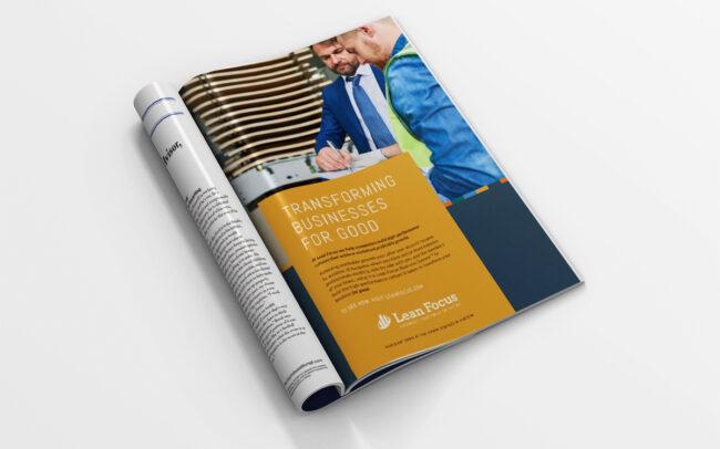 Lean Focus Print Ad Design by Pop-Dot